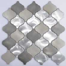 stainless steel mixed stone mosaic tiles
