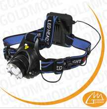 Goldmore2 XML T6 Hiking LED Headlamp 2000LM 3 Mode Adjustable Zoomable Headlight Waterproof Fishing Camping Bicycle Head Light