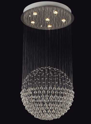 modern GU10 hanging crystal ceiling lamp