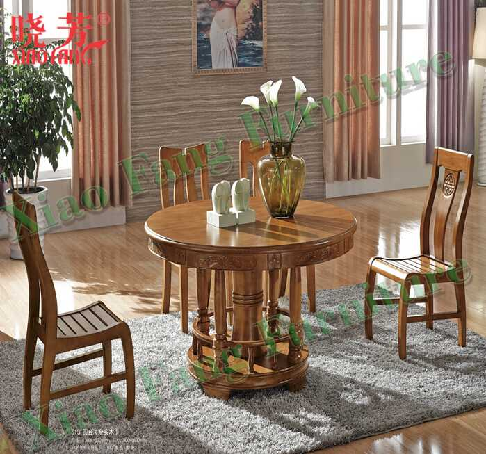 Latest Xiaofang hot selling newest solid wood furniture round marble-top table