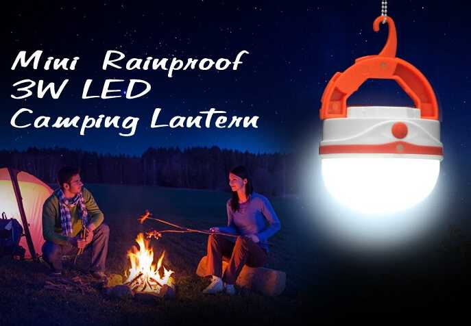 USB Rechargeable Silicone Emergency Night Light LED Lantern with Carabiner
