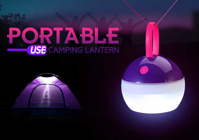 Portable Outdoor Rechaargeable Hand white light Camping Lantern