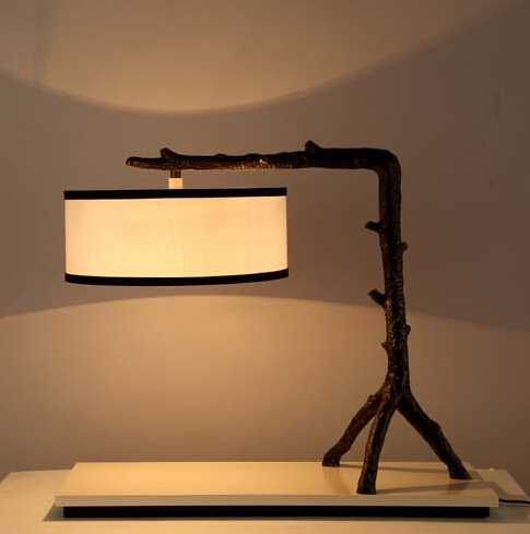 Vintage branch table lamp for led Antique steel table light