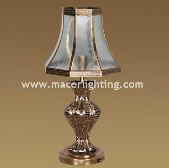 antique art deco brass table lamps
