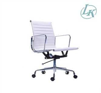 Modern swivel low back office chair aluminum armrest chair