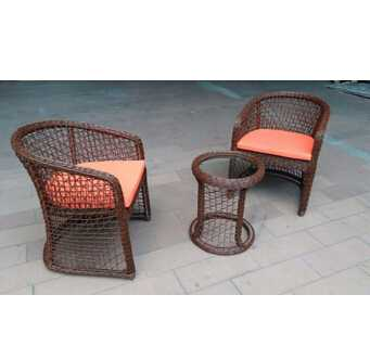 Leisure rattan cafe table set outdoor patio furniture