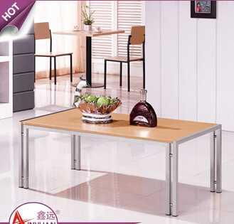 Italian living room furniture low price stainless steel legs15mm mdf top modern coffee wood table