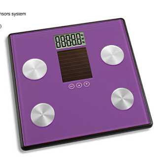 Large LCD Solar Body Fat Weighing Scale for Indoor and Outdoor