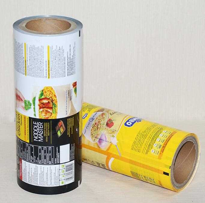 China suppliers laminated food grade aluminum plastic packaging bag film of instant noodles packing