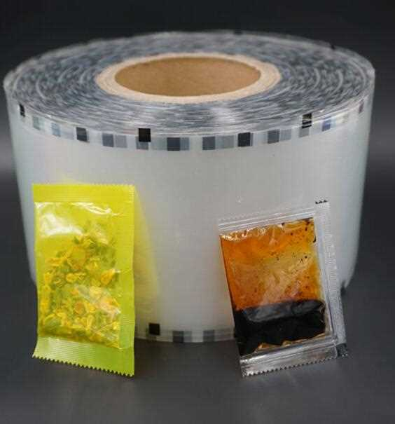 Food packaging wrapping plastic roll film for instant noodle seasoning