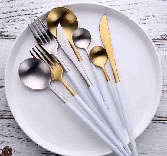 High Polish Coloured Handle Cutlery