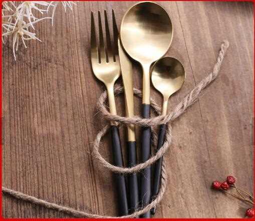 Luxury 4 pcs Christmas Gift Cutlery  Set