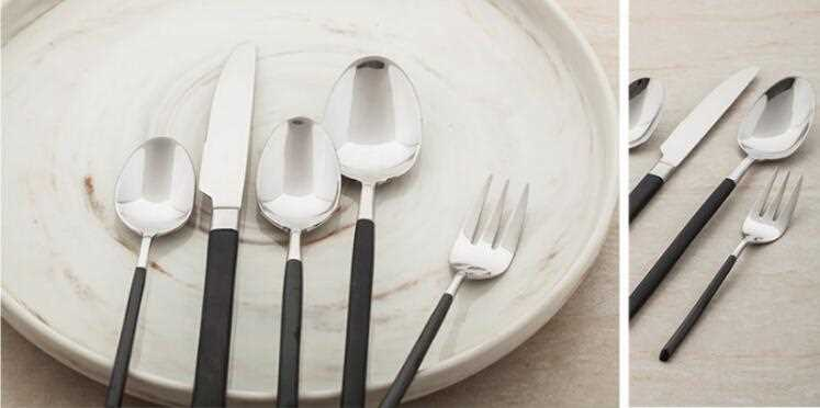 Stainless Streel Cutlery With Black Handle