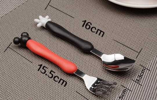 Stainless Steel Cutlery With Mickey Plastic Handle