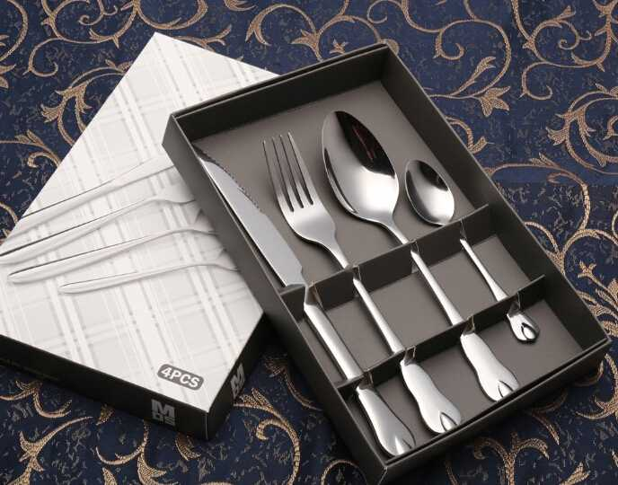 Four-Piece Suit Cutlery With Specially Designed Handle