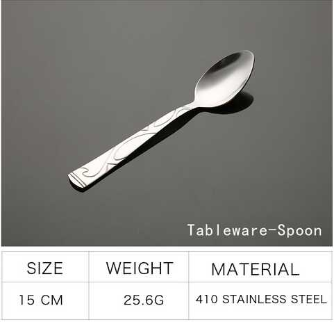 Stainless steel cutlery with exquisite handle