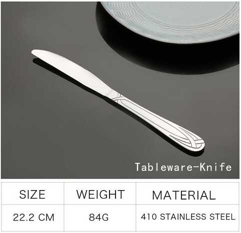 Western Type Stainless Steel Cutlery With Pattern Handle