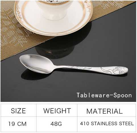 Fatware spoon and fork set with pattern handle
