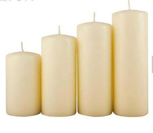 100% Cotton Wick Custom Fragrance Pillar Candle