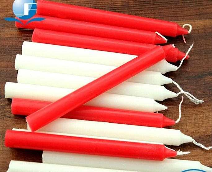 White or red decorative taper candles