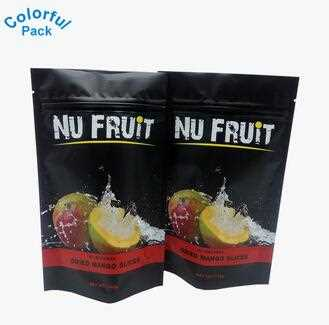 Matte Black Moisture-proof Frosted Aluminum Foil Ziplock Stand Up Pouch Dried food Packaging Bags