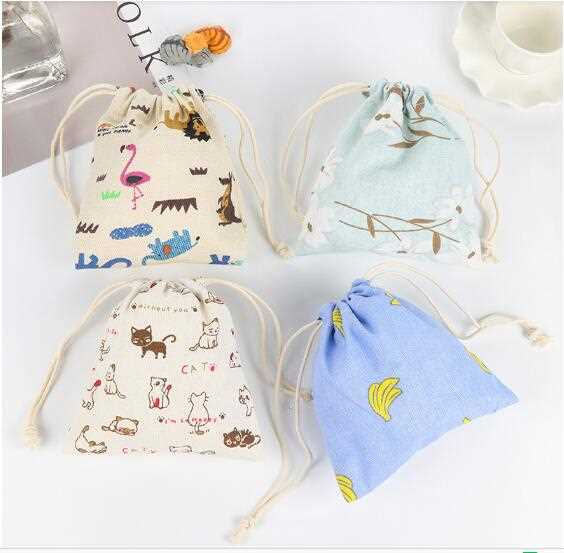 STORAGE CARTOON DRAWSTRING BAG FOR COIN
