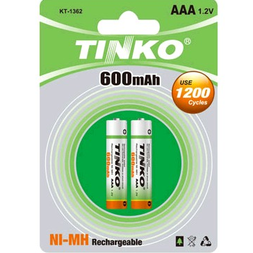 NI-MH 600MAH 1.2V Rechargeable Battery