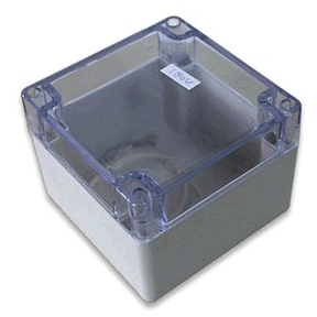 Clear Lid Plastic Waterproof Dustproof Electronic Enclosure