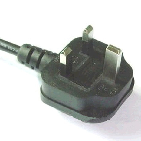 UK Power Cord with BS 1363A 3 Pin Fuse Plug