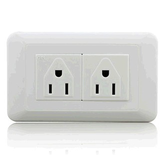 75mm*120mm two gang 110V American Type Wall Socket