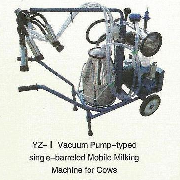Vacuum Pump-typed Advanced Moblie Milking Machine(single barrel)