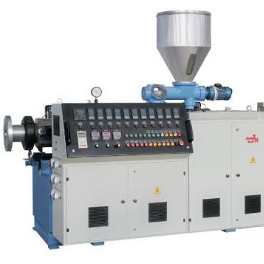 Twin conical screw extruder