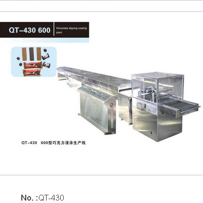 QT-430 600 chocolate dipping Coating Plant