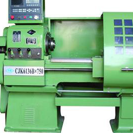CJK6136 numerical control lathe with job work 1000mm appx