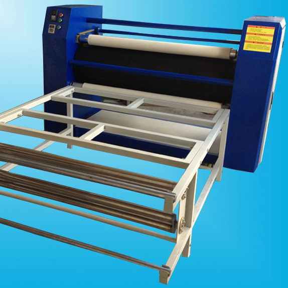 Roll to roll heat transfer machine for roll fabric