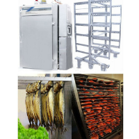fish smoker machine with trolley