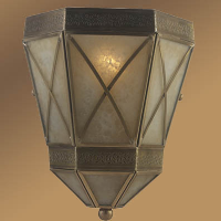 Modern wall lamp copper finish for hotel European style