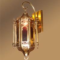 Moroccan unique brass wall lamp