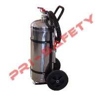 Stainless-Steel Dry Powder Wheeled Fire Extinguisher