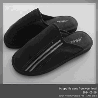 2014 china fashion new design black suede slippers