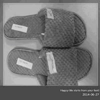 Winter warmth gray waffle slippers