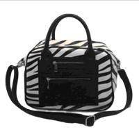 Zebra plain wholesale black pu handbag