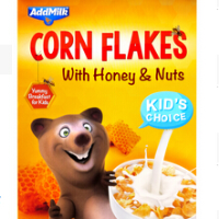 Cornflakes with Honey and Nuts, 225 gr.