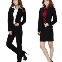 Women's boutique pure occupation suit suit cultivating small straight trousers high-temperature shaping pants suit