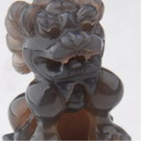 Natural agate color lion seal