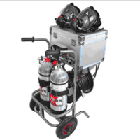 Long Tube Carbon Fiber Air Supply Trolley for 2 Cylinders