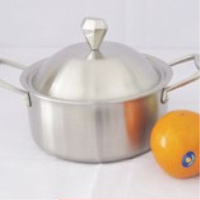 The three layer of stainless steel pot