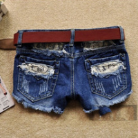 2014 china new fashion hole denim shorts women's personality cool short jeans pants