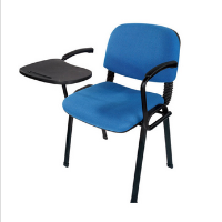 Best Low Price Colorful Fabric University School Furniture Single Student Chair