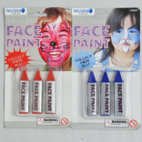 3PK CRAYON FACE PAINT